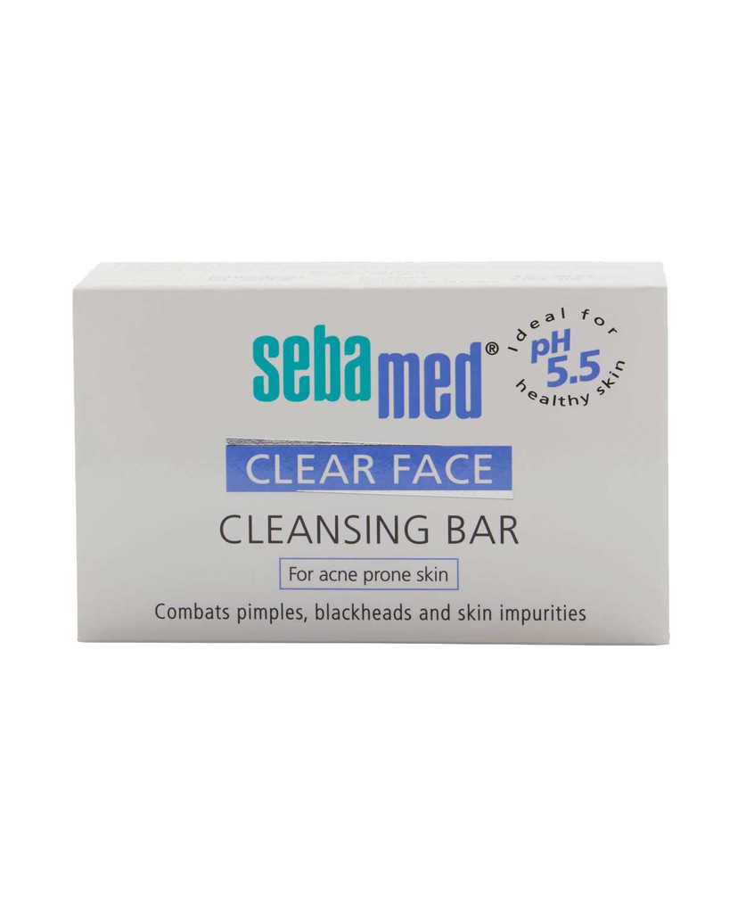 Sebamed Clear Face Cleansing Bar for acne and pimples at Mywellnesskart