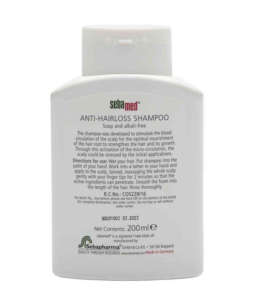 Product Information & Directions of Use - Sebamed Anti-Hairloss Shampoo 200ml